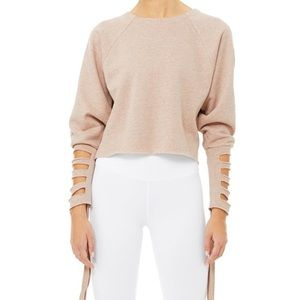 NWT Alo Yoga Tribe Long Sleeve Tie Cuff Top